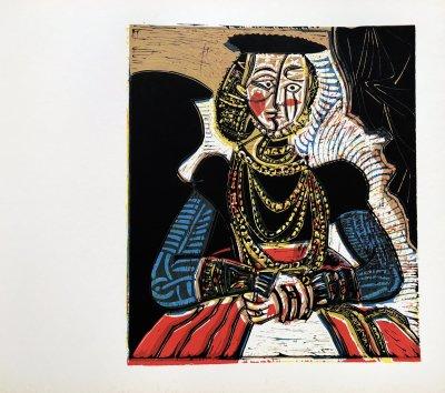 icasso Linogravures 1, Buste de femme after granache 1962
