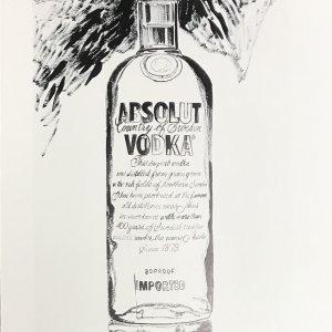 1999 Andy Warhol print, Absolut VodKa 6 Pop Art