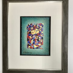 Anatole Krasnyansky Pencil Signed Original Serigraph & Numbered, Framed, Modern, Contemporary