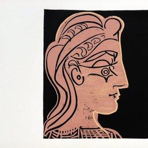Pablo Picasso 2, Linogravures Tete de femme 1962