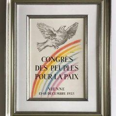 Pablo Picasso   67, Lithograph Congres des peuples pour la paix, Mourlot, Framed,  Cubism, Modern Art