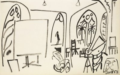 Pablo Picasso Sketchbook lithograph No 2 dated 13/11/1955