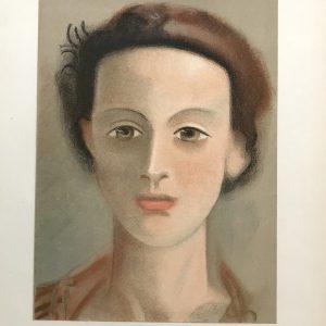 Derain Lithograph Tete de Fille, Verve Revue Artistic 1938