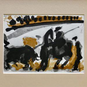 Picasso Toreros No 17, The thrust, 1961