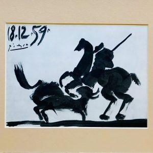 Picasso Toreros No 21, Before the thrust, 1961