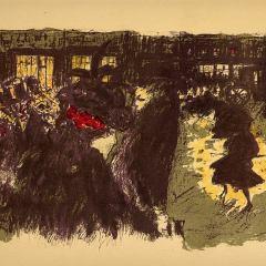Pierre Bonnard, Lithograph 119, Place le soir 1952