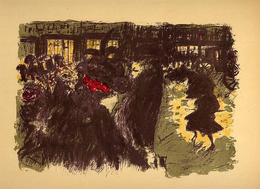 Bonnard Lithograph 119, Place le soir 1952
