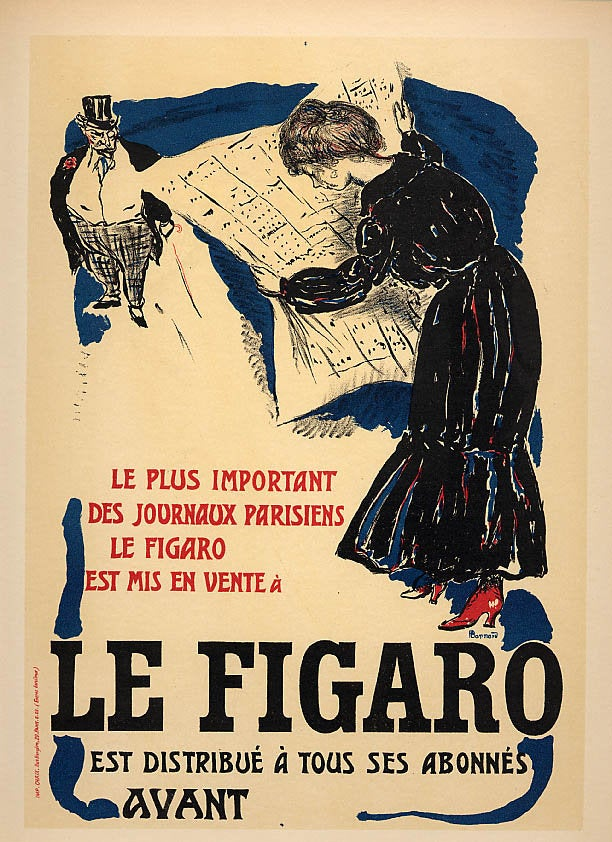 Bonnard Lithograph 135, Grand affiche le Figaro 1952