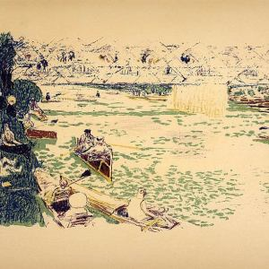 Pierre Bonnard Lithograph 85, Cantonage 195Bonnard Lithograph 85, Cantonage 19522