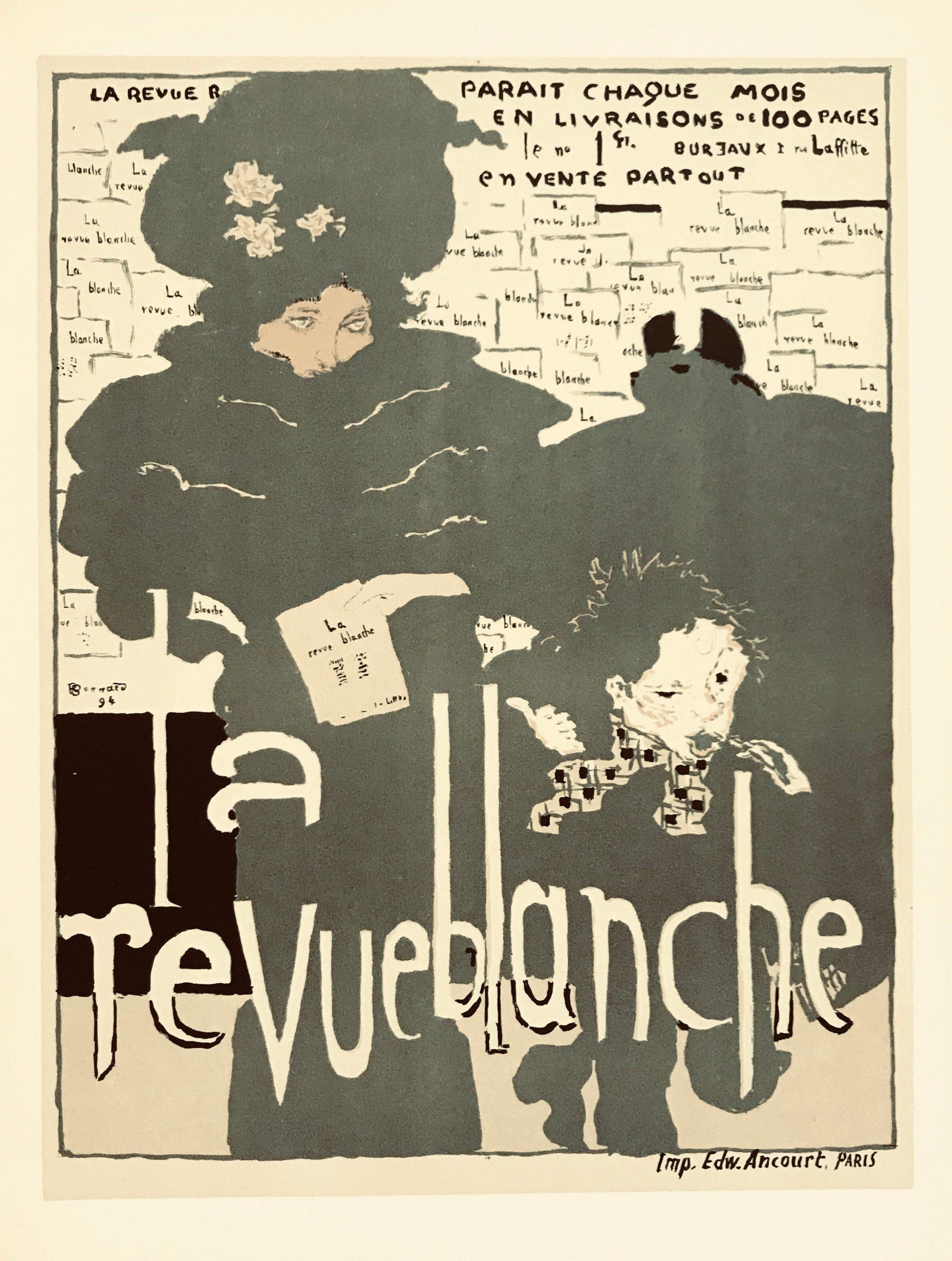 Bonnard Lithograph, La Revue Blanche 1952