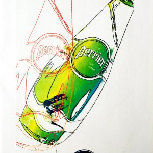 Andy Warhol  print  Perrier 5, 1999,  Pop Art , Contemporary