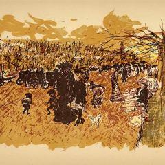 Pierre Bonnard, Lithograph 109, Avenue du bois, Mourlot 1952