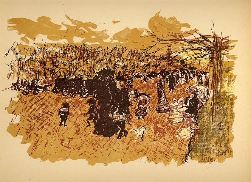 Bonnard Lithograph 109, Avenue du bois 1952