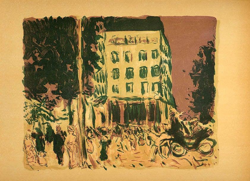 Bonnard Lithograph 141, Les Boulevards 1952