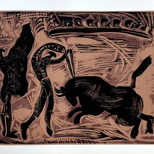 Pablo Picasso 37, Linogravures Les banderilles 1962