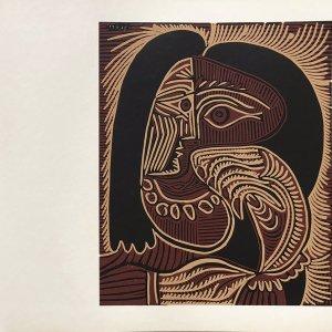 Pablo Picasso25, Linogravures Femme au collier 1962