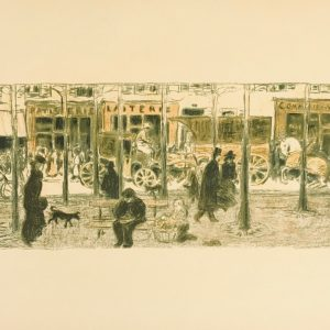 Bonnard Lithograph 117, Le Boulevard 1952