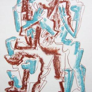 Ossip Zadkine, Pencil Signed Original Lithograph, Haute Malerie 1968