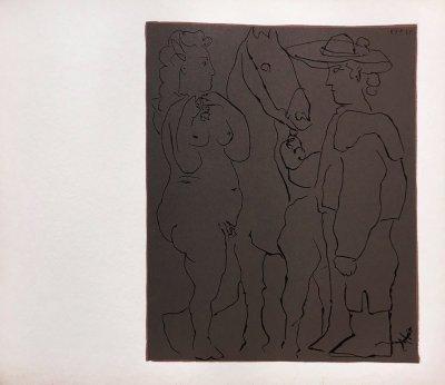 Picasso 10, Linogravures Picador femme et cheval 1962