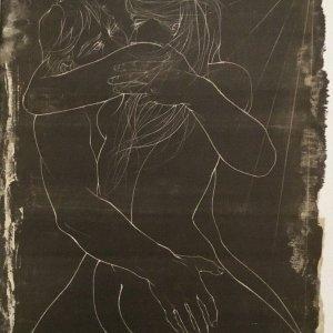 Pierre Yves Tremois, Pencil Signed Original Lithograph, L'aveugle plus que vetue 1968