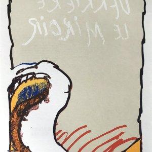 Alechinsky Lithograph, DM6247, Derriere le Miroir 1981