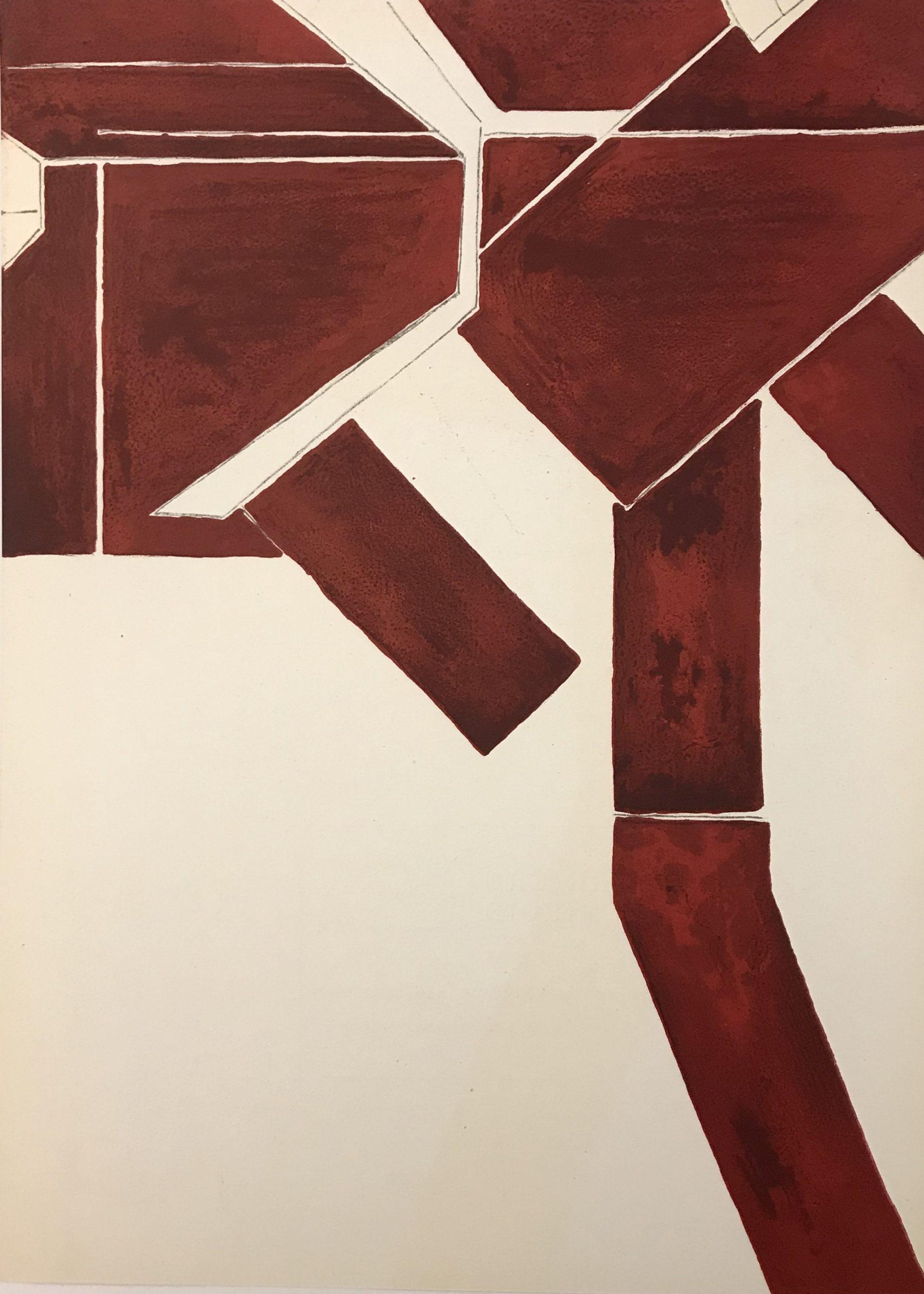 Pablo Palazuelo, Original Lithograph, DM0273, Derriere le Miroir 1955