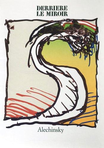 Alechinsky Lithograph, DM1247, Derriere le Miroir 1981