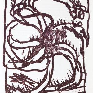 Alechinsky Lithograph, DM4247, Derriere le Miroir 1981