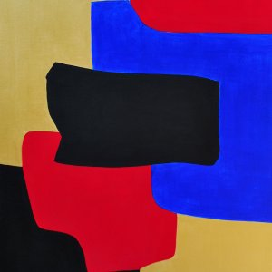 Grace Absi & J Merhi, Composition No.3, Acrylic on Canvas Signed