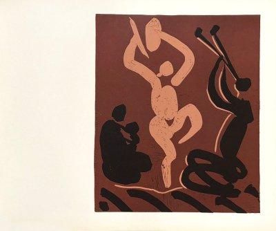 Pablo Picasso 26, Linogravures Mere danseuse et Musicien, 1962
