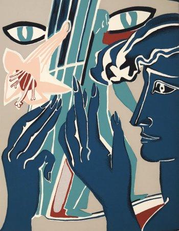 Francoise Gilot Silkscreen, Colette 1983