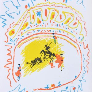 Pablo Picasso Original Lithograph Corrida 1971 XX Siecle