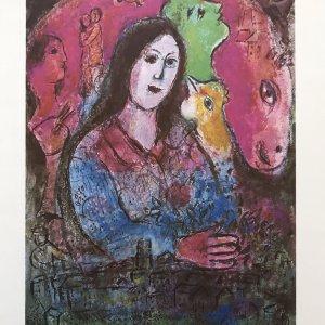 Marc Chagall La pensee, DM07225 Derriere le miroir 1977