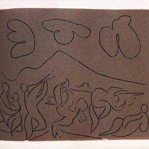 Pablo Picasso 24, Linogravures Bacchanale 17/11/59, 1962