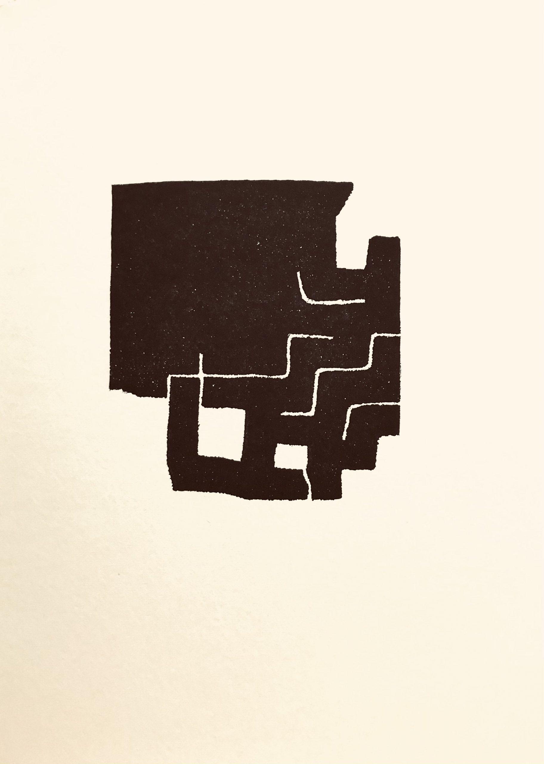 Eduardo Chillida Lithograph 3, Maeght Editeur 1975