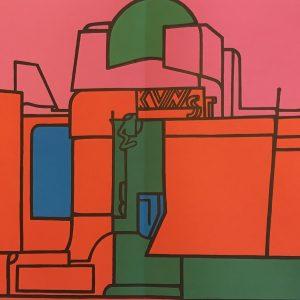Adami Valerio, Original Lithograph, DM08188d, Derriere le Miroir 1970