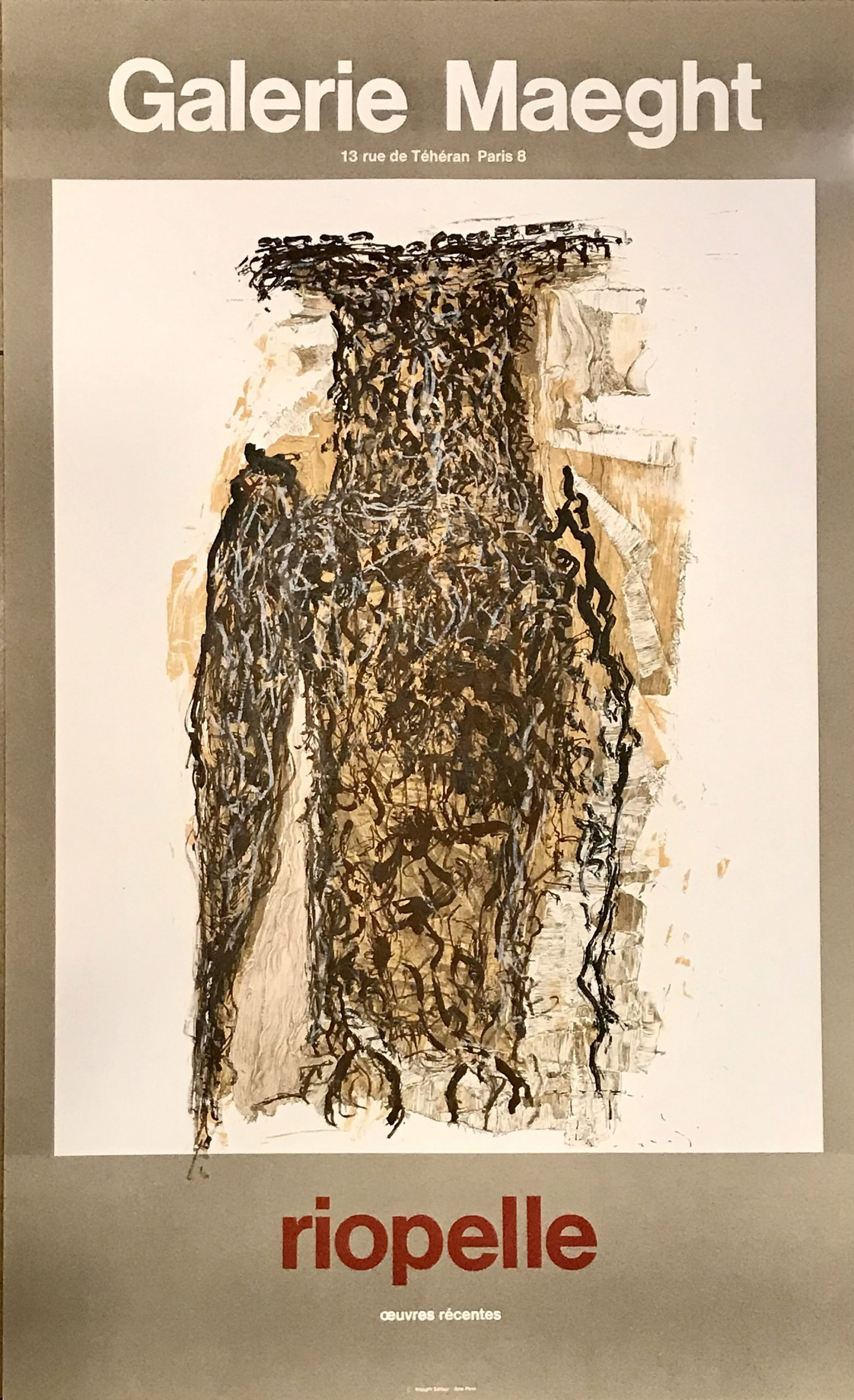 Jean-Paul Riopelle, Hibou, Poster Lithograph, DLM 1980