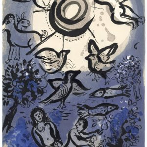 Marc Chagall, Lithograph 1960, Drawings for the Bible, Creation