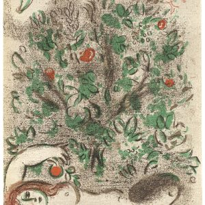 Marc Chagall, Original Lithograph 1960, Drawings for the Bible, Paradise