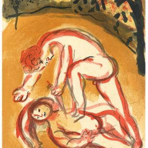 Chagall Original Lithograph Cain and Abel, Bible 1960
