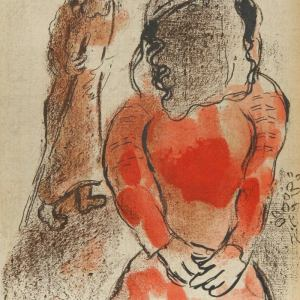 Chagall Original Lithograph Rahab and the spies of Jericho, Bible 1960
