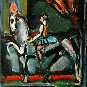 Book Homage to G. Rouault 1971, with 1 Lithograph