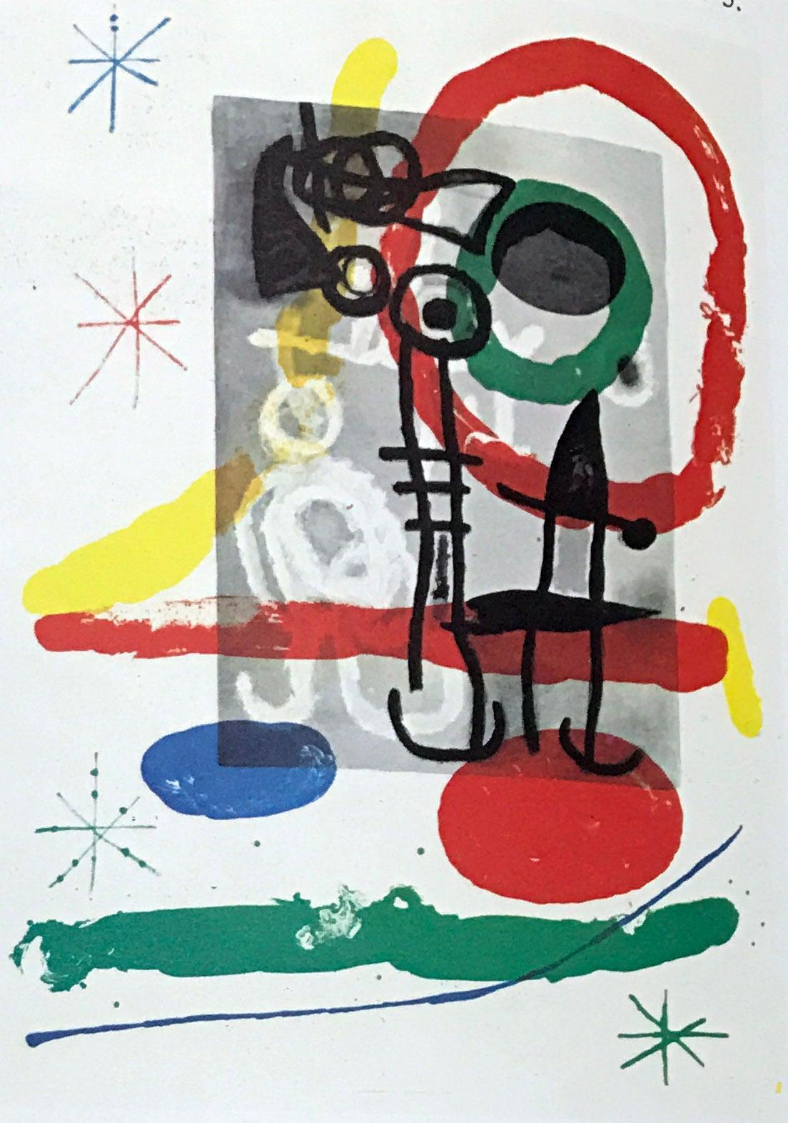 Joan Miro, Original Lithograph DM01151, Derriere le Miroir 1970