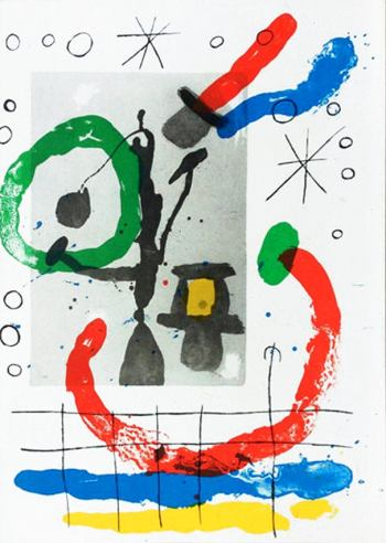 Joan Miro Original Lithograph, DM07151, Derriere le Miroir 1970