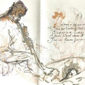 Pierre Parsus Origina Lithograph, Le Fossoyeur