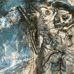 """Pierre Parsus Original Lithograph """"Oncle archibald"""""""