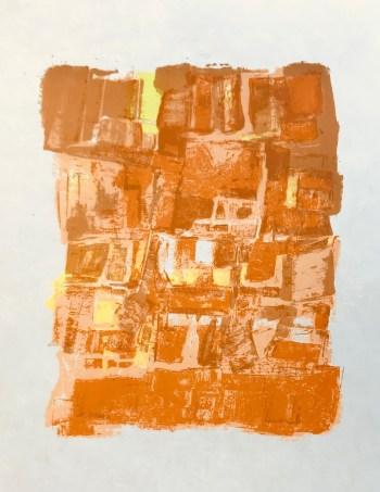 """Orlando Pelayo """"5"""" Original Lithograph 1962, Mourlot"""