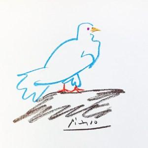 Pablo Picasso Lithograph 59, Verwidwete Dove