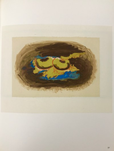 """Braque Lithograph """"Pomme et feuilles"""" 1963 Mourlot"""