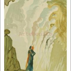 Salvador Dali, Purgatory 12, Woodcut, Divine Comedy